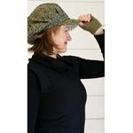 Slouchy Hat Wool Hat Winter Cap Leaf Hat Unisex Cap